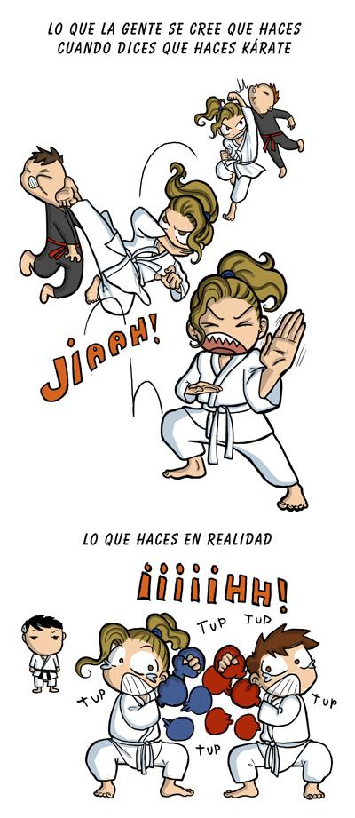 viñeta karate